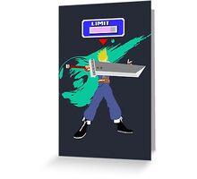 Super Smash Bros Cloud Greeting Card
