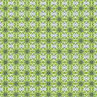 Green Digital Flower Kaleidoscope repeat pattern by fantasytripp