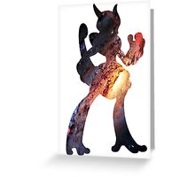 Mega Mewtwo X used Aura Sphere Greeting Card