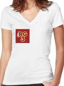 RG3 Women's Fitted V-Neck T-Shirt