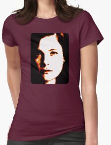 Alana Bloom Black Background Womens Fitted T-Shirt