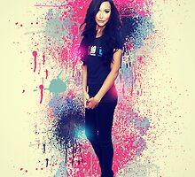 Naya Rivera: Vintage Colour Splash by linked-pinkies