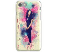 Naya Rivera: Vintage Colour Splash iPhone Case/Skin