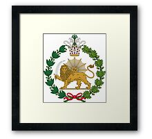 Imperial Coat of Arms of Persia (Iran), 1907-1925 Framed Print