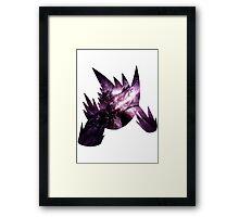 Mega Gengar used Shadow Ball Framed Print
