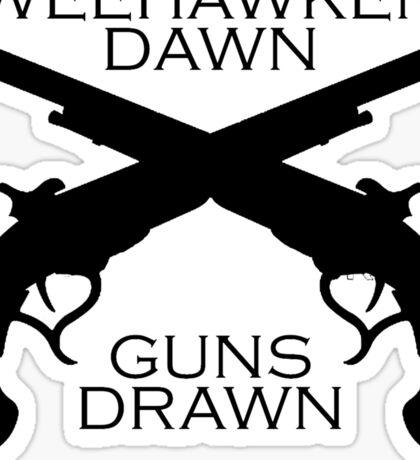 Hamilton - Weehawken. Dawn. Guns drawn. Sticker
