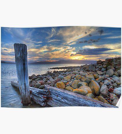 Dennes Point Dusk - Bruny Island, Tasmania Poster