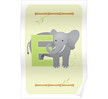 E is for Elephant (Uppercase) Poster