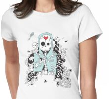 The Diseased Minds of the Dead Art Print by Joseph Nathan Womens Fitted T-Shirt