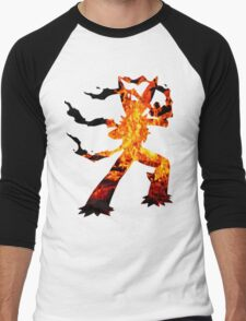 Mega Blaziken used Blast Burn Men's Baseball ¾ T-Shirt
