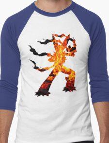 Mega Blaziken used Blast Burn Men's Baseball ¾ T-Shirt