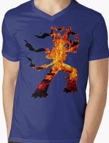 Mega Blaziken used Blast Burn Mens V-Neck T-Shirt