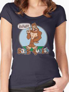 Sass Quatch Women's Fitted Scoop T-Shirt