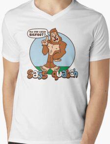 Sass Quatch Mens V-Neck T-Shirt