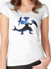 Mega Garchomp used Night Slash Women's Fitted Scoop T-Shirt