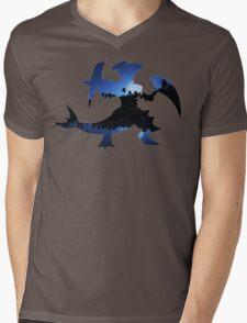 Mega Garchomp used Night Slash Mens V-Neck T-Shirt