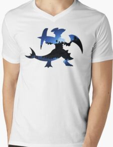 Mega Garchomp used Night Slash Mens V-Neck T-Shirt