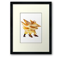 Mega Manectric Thunder Wave Framed Print