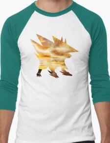 Mega Manectric Thunder Wave Men's Baseball ¾ T-Shirt