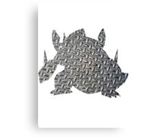 Mega Aggron used Metal Burst Canvas Print