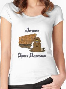 Raccoons In Space Women's Fitted Scoop T-Shirt