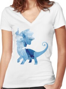 Aurorus used Icy Wind Women's Fitted V-Neck T-Shirt