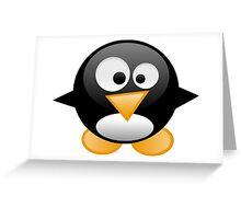 penguin work 1 Greeting Card