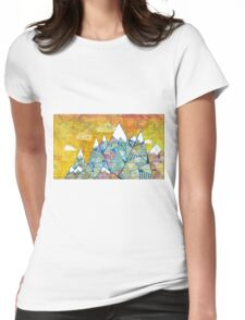 Maps and Mountains Womens Fitted T-Shirt
