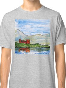 scottish castle by sea  Classic T-Shirt