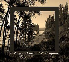 ruby beach, wa, usa old school (2x square) by dedmanshootn