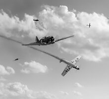 They were there (Ils étaient là), black and white version by Gary Eason + Flight Artworks