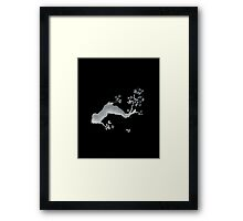 Cherry tree negative Framed Print
