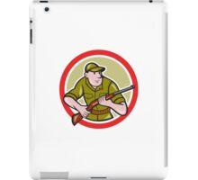 Hunter Carrying Rifle Cartoon iPad Case/Skin