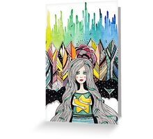 Girl with yellow star Greeting Card