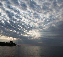 Cirrocumulus Clouds and Sunbeams by Georgia Mizuleva