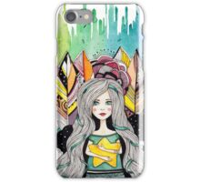 Girl with yellow star iPhone Case/Skin