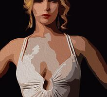 American Hustle Jennifer Lawrence Print by Colin Bradley