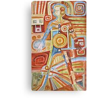 Puzzle painting Woman Canvas Print