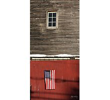 Window Over a Flag Photographic Print
