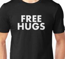 FREE HUGS (WHITE TEXT) Unisex T-Shirt