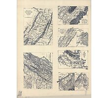 Civil War Maps 2142 Maps illustrating campaign of Gen T J Stonewall Jackson in the Shenandoah Valley of Virginia 1862 Photographic Print
