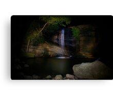 Serenity Falls by Moonlight Canvas Print
