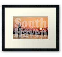 South Haven, Michigan Sunset Gathering Framed Print
