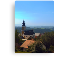 Village church, skyline and panorama | landscape photography Canvas Print