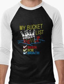 My Bucket List Men's Baseball ¾ T-Shirt