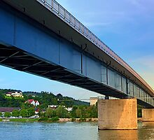 Bridge across the river Danube II | architectural photography by Patrick Jobst