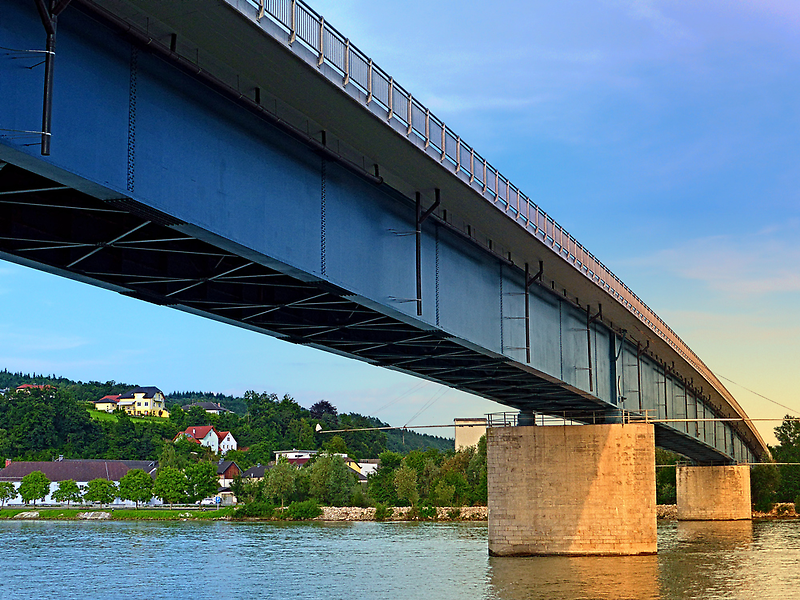 Bridge across the river Danube II   architectural photography by Patrick Jobst