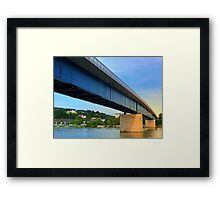 Bridge across the river Danube II | architectural photography Framed Print