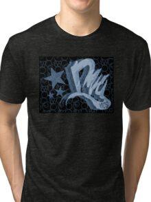 Dreamer Pattern Blue Tri-blend T-Shirt