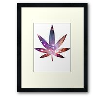 Cosmic Pot Leaf Framed Print